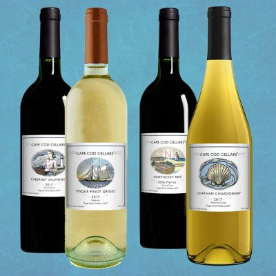 Basket of 4 all Cape Cod Cellars® Wines